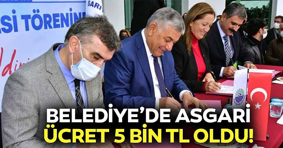 Belediye'de Asgari Ücret 5 Bin TL Oldu