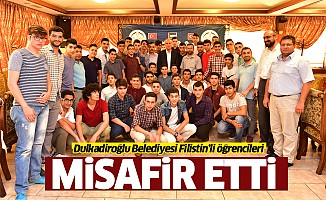 Dulkadiroğlu Belediyesi Filistin'li öğrencileri misafir etti