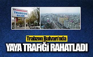Trabzon Bulvarı'nda yaya trafiği rahatladı