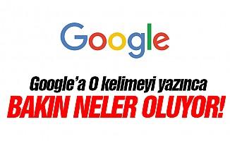 Google'a o kelimeyi yazınca  bakın neler oluyor!