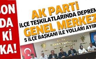 Kahramanmaraş'ta, Ak Parti ilçe başkanları görevden istifa etti