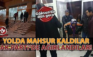 Yolda mahsur kalanlar Ak Parti'ye sığındı!