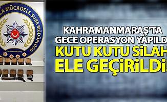 Kahramanmaraş'ta silah kaçakçılığı; gözaltı var!
