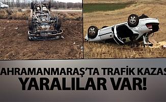 Kahramanmaraş'ta, Trafik kazası yaralılar var!