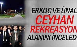 Erkoç ve Ünal, Ceyhan rekreasyon alanını inceledi!