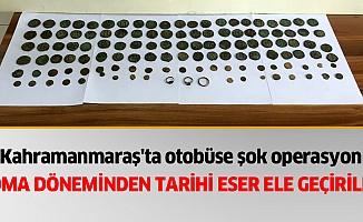 Kahramanmaraş'ta otobüse şok operasyon