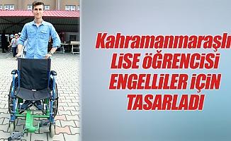 Lise öğrencisinden, Engelliler için özel tekerlekli sandalye