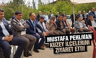 Mustafa Pehlivan, kuzey ilçelerini ziyaret etti!