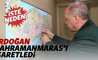 Cumhurbaşkanı Erdoğan haritada Kahramanmaraş'ı işaretledi! İşte nedeni...