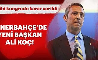 Fenerbahçe'nin yeni başkan Ali Koç oldu
