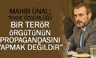 """Mahir Ünal; """"İfade özgürlüğü bir terör örgütünün propagandasını yapmak değildir"""""""