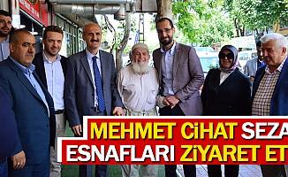Mehmet Cihat Sezal, Esnafları Ziyaret Etti