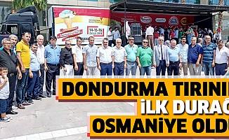 Dondurma Tırının İlk Durağı Osmaniye Oldu
