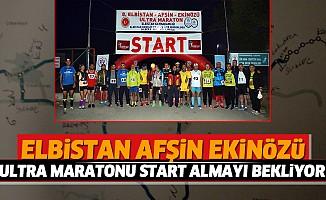 Elbistan Afşin Ekinözü Ultra Maratonu Start Almayı Bekliyor