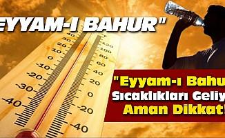 """""""Eyyam-ı bahur"""" sıcaklıkları geliyor aman dikkat!"""