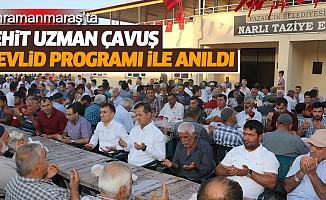 kahramanmaraş'ta şehit uzman çavuş mevlid programı ile anıldı