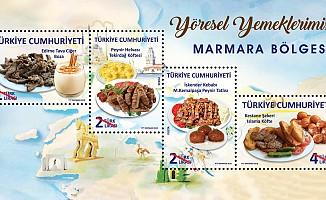 """Ptt'den """"Yöresel Yemeklerimiz(Marmara Bölgesi)"""" Konulu Anma Pulu"""