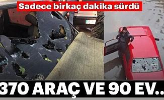 Kastamonu'yudoluyağışı vurdu: 370 araç ve 90 evde hasar