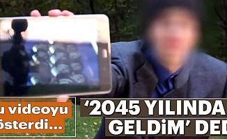 '2045'ten gelenzamanyolcusu, alay konusu oldu!