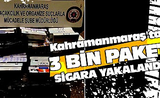 3 Bin Paket Sigara Yakalandı