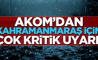 "Akom: ""Sağanak yağışlara dikkat!"""