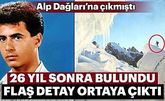 Alpler'de 25 yıl sonra cenazesi bulunan dağcı defnedildi