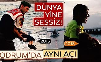 Bodrum'da Türk polisigöçmenkız için gözyaşı döktü