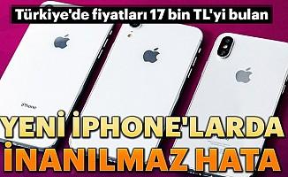 YeniiPhone'larda inanılmaz hata