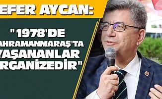 """""""1978'deKahramanmaraş'ta yaşananlar organizedir"""""""