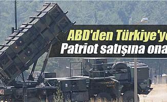 ABD'denTürkiye'yePatriotsatışına onay