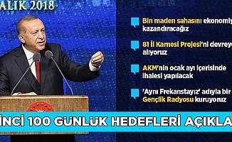 Erdoğan İkinci 100 Günlük Hedefleri Açıkladı