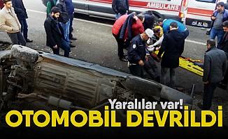 Kahramanmaraş'ta otomobil devrildi