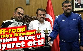 Off-road Türkiye ikincileri Başkan Erkoç'u ziyaret etti