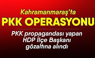 PKK propagandası yapan HDP İlçe Başkanı gözaltına alındı