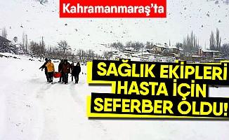 Sağlık ekipleri kar kış dinlemiyor!