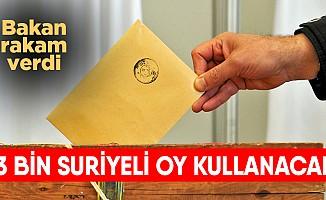 İçişleri Bakanı Süleyman Soylu: 53 Bin Suriyeli Oy Kullanabilir