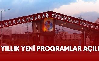 KSÜ'de 4 Yıllık Yeni Programlar Açıldı