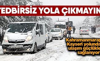 Ulaşıma kar engeli!