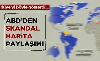 ABD'den skandal haritalı paylaşım!Türkiye'yi ikiye ayrılmış gösterdi...