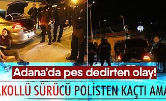 Adana'da polisten kaçan sürücünün oyunu tutmadı