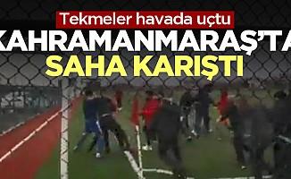 Kahramanmaraş'taki maç'ta yumruklar konuştu!