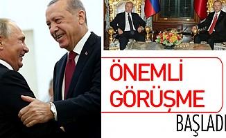 Kritik zirve öncesi Başkan Erdoğan Putin ile görüştü