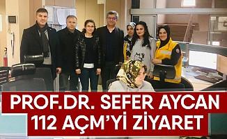 Sefer Aycan 112'yi ziyaret