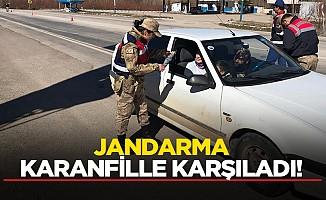 Jandarma karanfille karşıladı!