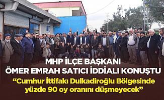 """MHP İlçe Başkanı Ömer Emrah Satıcı iddialı konuştu; """"Cumhur İttifakı Dulkadiroğlu Bölgesinde yüzde 90 oy oranını düşmeyecek"""""""