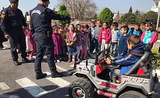 Minik Öğrenciler Trafik Eğitim Parkında