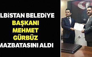 Elbistan Belediye Başkanı Mehmet Gürbüz, Mazbatasını Aldı