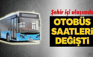 Toplu taşıma araçlarının saatleri yeniden düzenlendi