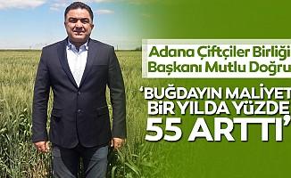 Adana Çiftçiler Birliği Başkanı Mutlu Doğru: 'Buğdayın maliyeti bir yılda yüzde 55 arttı'