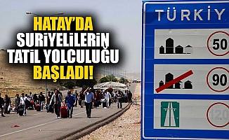 Suriyeliler ülkelerine tatile gidiyor!